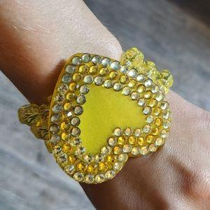 Tarina Tarantino yellow runestone heart bracelet